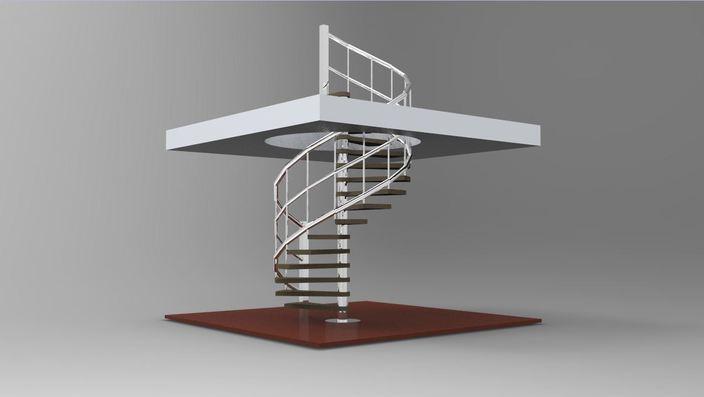排矿装置螺旋结构犹如螺旋楼梯